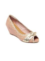 Jove Women Pink Peep Toes