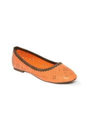 Jove Women Orange Ballerinas