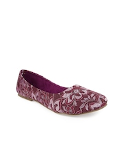 Jove Women Purple Flat Shoes