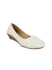 Jove Women White Wedges