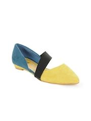 Jove Women Yellow & Blue Shoes