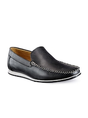 Juan David Men Black Loafers