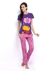 July Nightwear Women Sky Blue & Pink Lounge Set B35