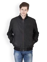 Justanned Men Black Leather Jacket