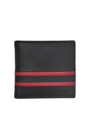 Justanned Men Black Leather Wallet