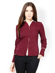Kaaryah Women Maroon Formal Shirt