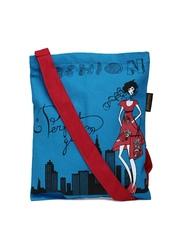 Kanvas Katha Blue Printed Sling Bag