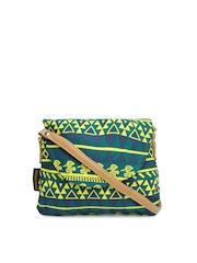 Kanvas Katha Green Printed Sling Bag