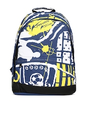 Kanvas Katha Men Navy Printed Backpack