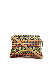Kanvas Katha Multicoloured Printed Sling Bag
