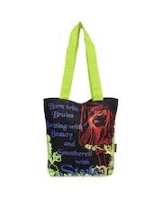 Kanvas Katha Women Black Printed Tote Bag
