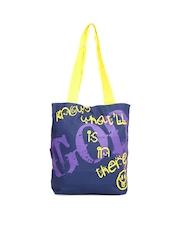 Kanvas Katha Women Blue Tote Bag
