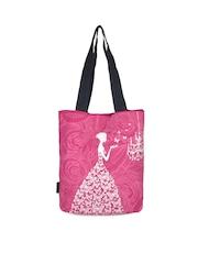 Kanvas Katha Women Fuchsia Pink Printed Tote Bag