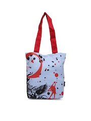 Kanvas Katha Women Lavender Printed Tote Bag