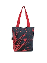 Kanvas Katha Women Navy & Red Tote Bag