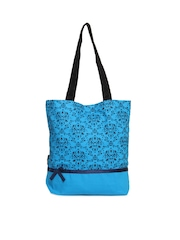 Kanvas Katha Women Blue Tote Bag