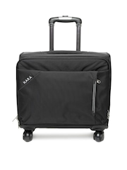 Kara Unisex Black Trolley Bag