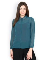 Kaxiaa Women Blue Shirt