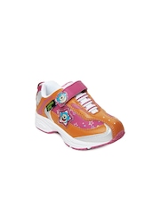 Keymon Ache Girls Pink & Orange Casual Shoes