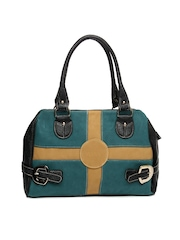 Kiara Black & Teal Blue Handbag