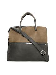 Kiara Dark Grey & Brown Handbag