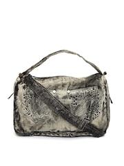 Kiara Grey & Beige Handbag