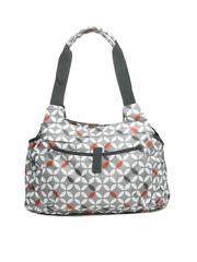 Kiara Grey Printed Baby Bag
