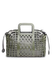 Kiara Olive Green & Grey Cut-Out Handbag