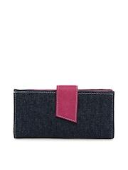 Kiara Women Navy & Pink Wallet