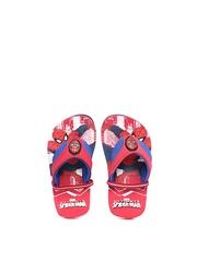 Kids Ville Boys Red & Blue Spiderman Flip-Flops