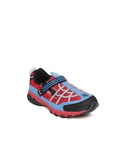 Kids Ville Boys Red & Blue Spiderman Sports Shoes