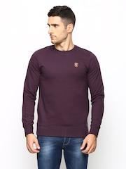 Killer Men Wine Coloured Lean Fit Sweatshirt