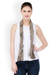 Kiosha Women Brown & Black Printed Stole
