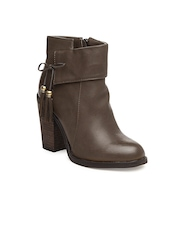 Kiss Kriss Women Brown Ankle Boots