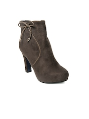 Kiss Kriss Women Taupe Brown Boots