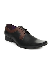 Knotty Derby Men Black & Brown Semi-Formal Shoes