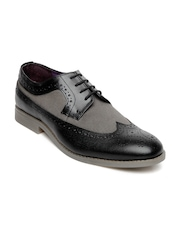 Knotty Derby Men Black & Grey Oliver Longwing Brogue Casual Shoes
