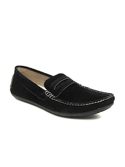Knotty Derby Men Black Tom Suede Loafers