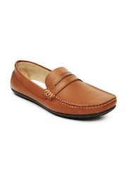 Knotty Derby Men Brown Leather Loafers