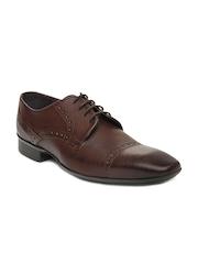Knotty Derby Men Brown Semi-Formal Shoes