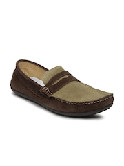 Knotty Derby Men Brown Tom Suede Loafers