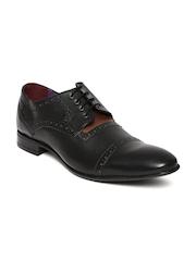 Knotty Derby Men Black Brogue Formal Shoes