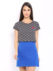 Kook N Keech Blue & Grey Dress