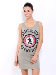 Kook N Keech Disney Grey Printed Shift Dress