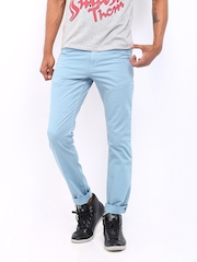 Kook N Keech Disney Men Light Blue Chino Trousers