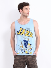 Kook N Keech Disney Men Light Blue Printed T-shirt