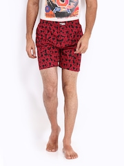Kook N Keech Disney Men Red & Black Printed Boxers 06