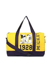 Kook N Keech Disney Unisex Yellow & Navy Printed Gym Bag