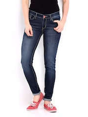 Kook N Keech Disney Women Dark Blue Skinny Fit Jeans