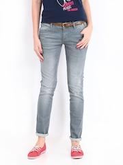 Kook N Keech Disney Women Grey Jeans
